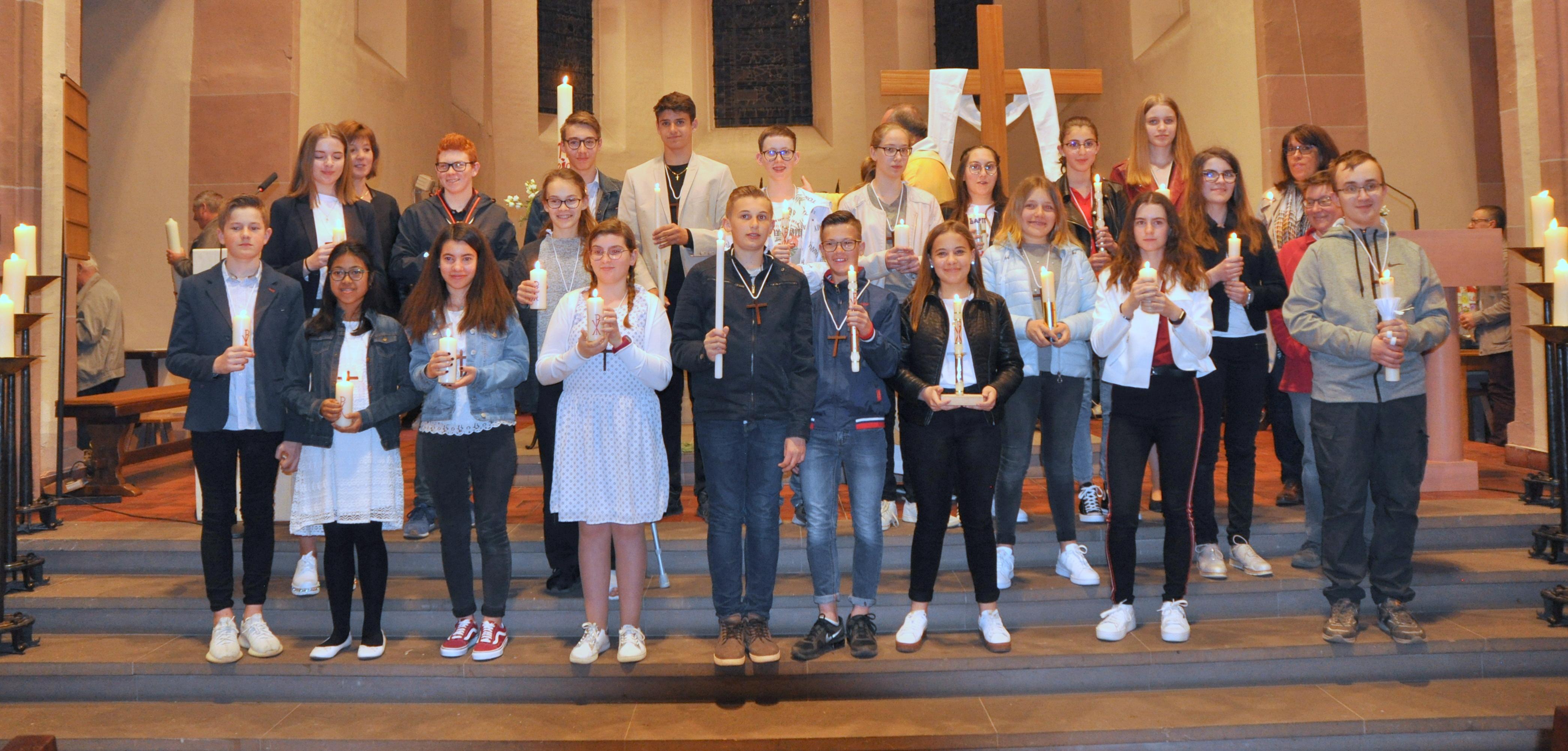 Vigile pascale à Benfeld avec la profession de Foi des jeunes samedi 20 avril 2019