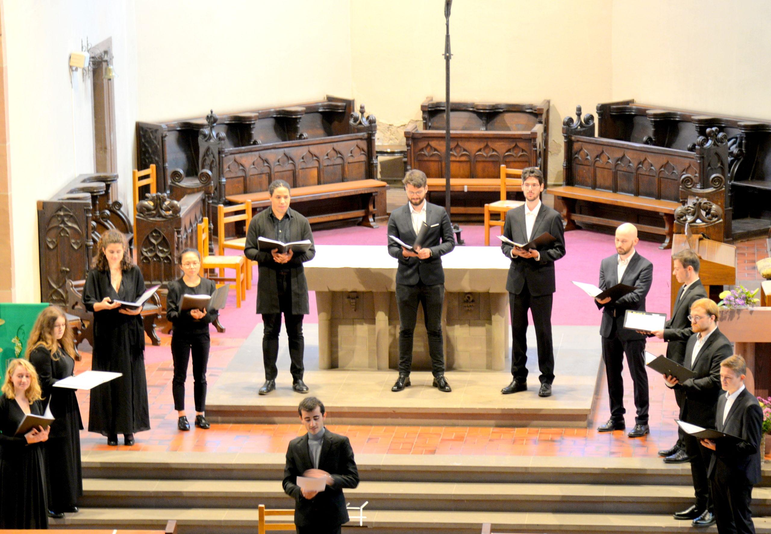 Concert à Benfeld du Chœur de Chambre de l'Université de Strasbourg, 4 octobre 2020