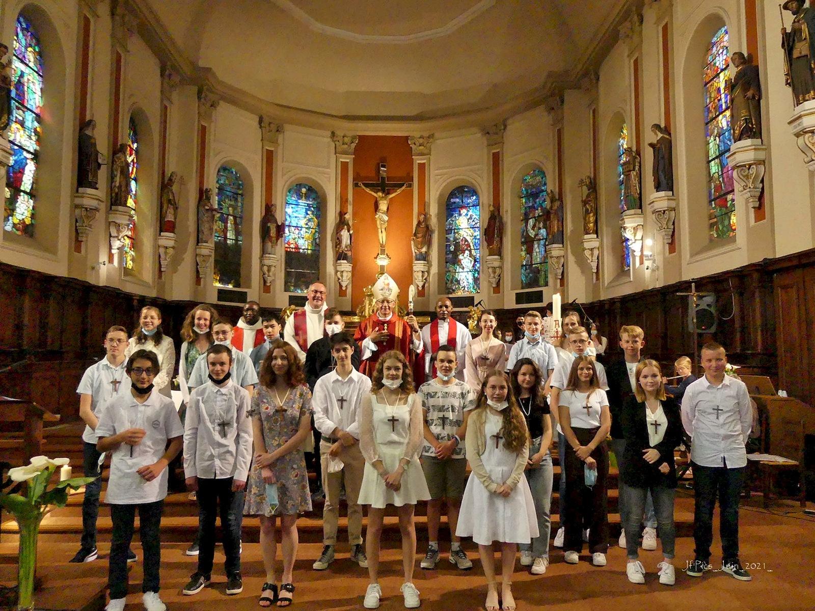 Célébration du sacrement de la confirmation - Huttenheim - 13 juin 2021